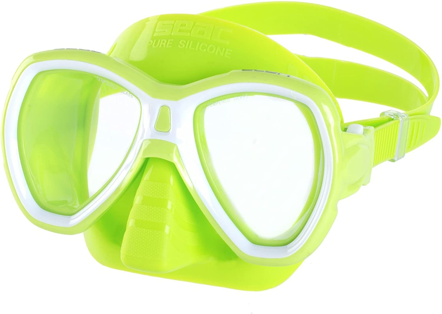 SEAC Elba Snorkeling and Swimming Soft Silicon Mask, Two Lenses, Adults Unisex S GR Green