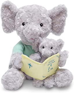 Cuddle Barn Animated Plush 12 Elephant - Pray with Me Pals - Bible Story Time (Bible Time Hannah & Child)