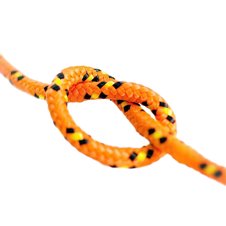 Naranja Longitud 100 metros Cuerda de Amarre Rollo de Soga 100/% natural Grosor 2 mil/ímetros DQ-PP Cuerda de Polipropileno multiusos