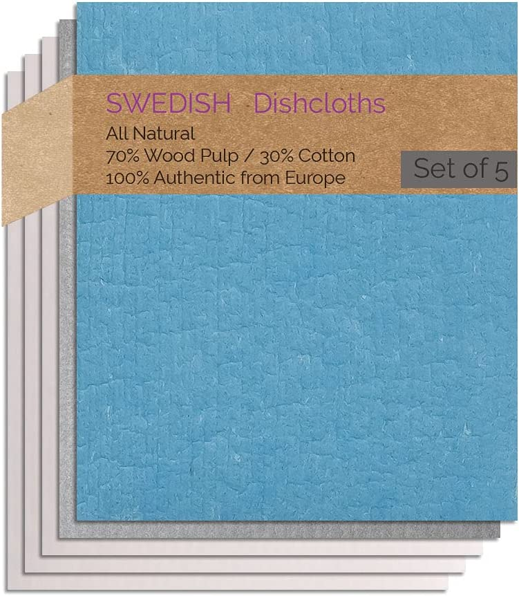 Swedish Dishcloth 5 Excellence PK 1 Gray Natural 3 GT Manufacturer direct delivery Combo Turquoise