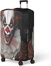 Pinbeam Luggage Cover Scary Scarier Clown Sharp Pointy Teeth Glaring at Travel Suitcase Cover Protector Baggage Case Fits 18-22 inches