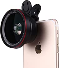 Zuanshiyan HD Camera Lens Professional 3-in-1 Kit, 0.6 X Super Wide Angle Lens, 15 X Macro Lens, Universal Clip On Cell Phone For iPhone Samsung Most Smartphones