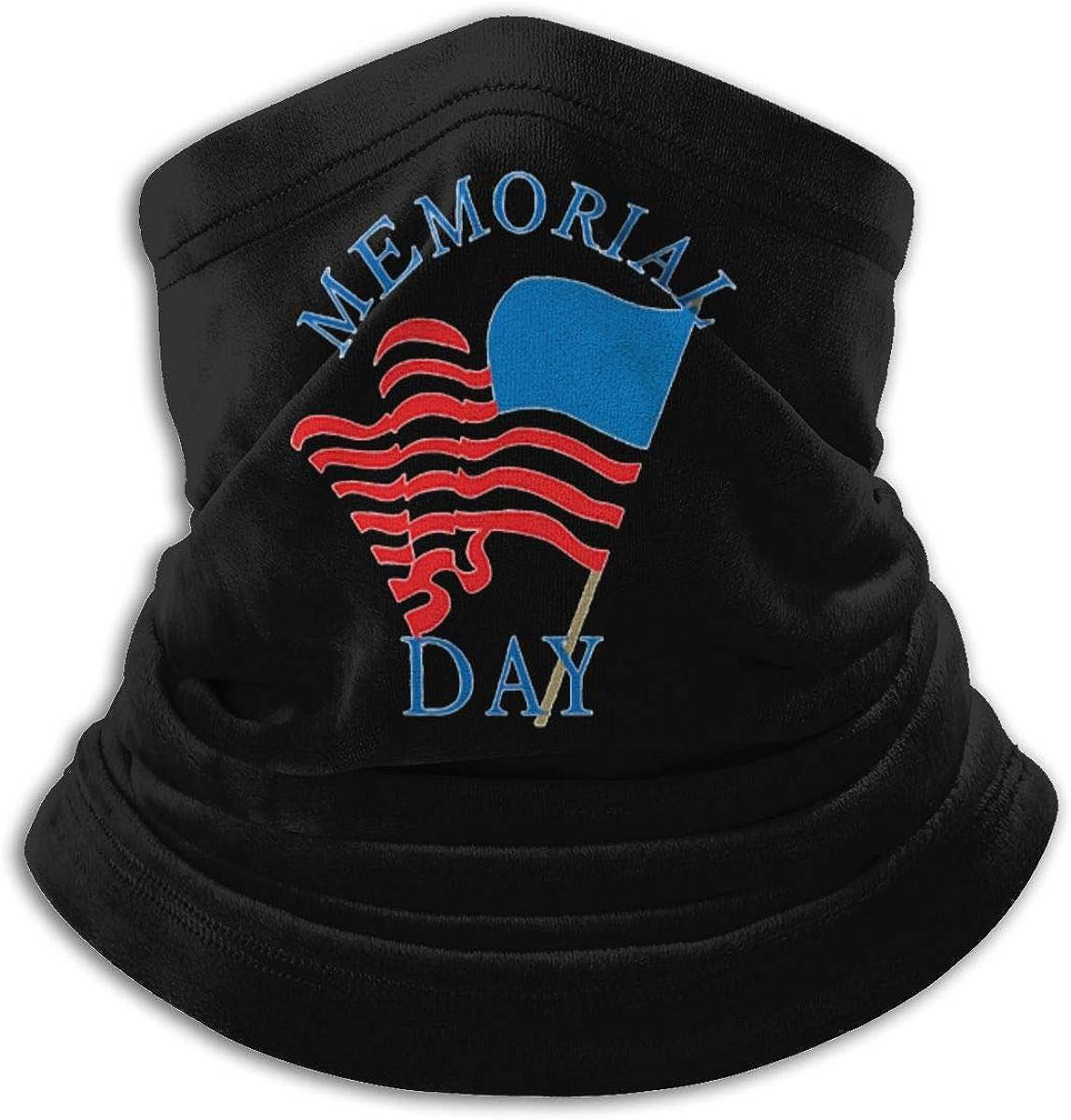 Memorial Day Black Multi-function Neck Warmer Gaiter Polyester Neck Warmer Windproof Winter Neck Gaiter Cold Weather Scarf For Men Women