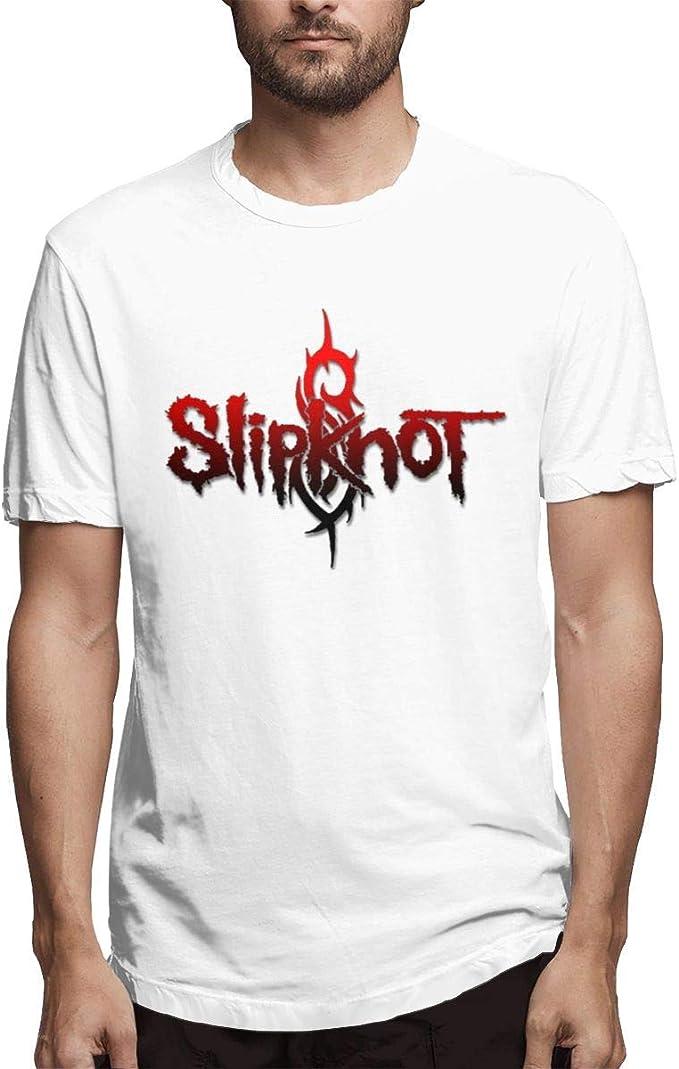 Camisetas Informales Blancas de diseño Slipknot para Hombres ...