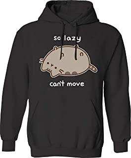 Pusheen The Cat So Lazy Can't Move Popover Basic Logo Hoodie