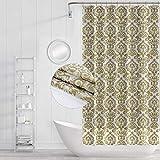 Funria Duschvorhang Mehltau Beständiges Antibakterielles Badezimmer Gardinen mit Haken Wasserdicht Badezimmer Duschvorhänge, 180 x 180CM