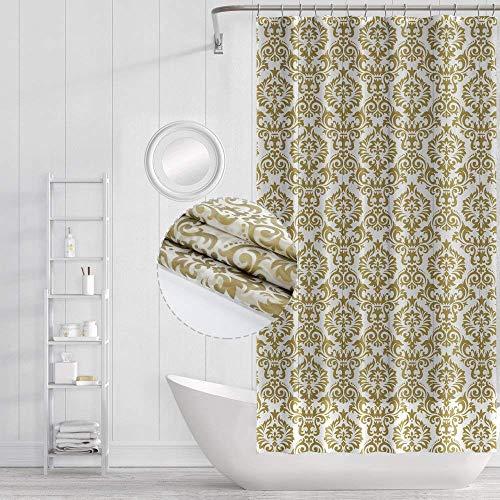 Funria Duschvorhang Mehltau Beständiges Antibakterielles Badezimmer Vorhänge mit Haken Wasserdicht Badezimmer Duschvorhänge, 180 x 180CM