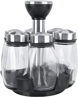 GJYO boîte d'assaisonnement en Verre visuel en s sel et Poivre pour épices boîte Outils Cuisson Bouteille Ensemble sel et ...