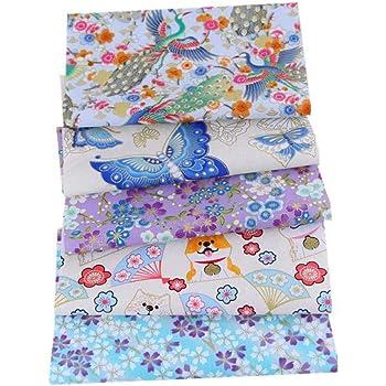 Cedarfiny - Tela de algodón, diseño de patchwork, tela de algodón ...