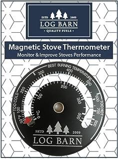 Log-Barn quemador de registro magnético y termómetro de