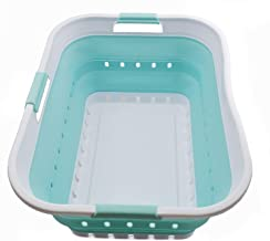 SAMMART Collapsible Plastic Laundry Basket - Foldable Pop Up Storage Container/Organizer - Portable Washing Tub - Space Sa...