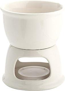 Fondue Set Ceramic Chocolate Fondue Pot Portable Cheese Hot Pot, Chocolate Melting Pot Alcohol Stove, Multifunctional Fond...