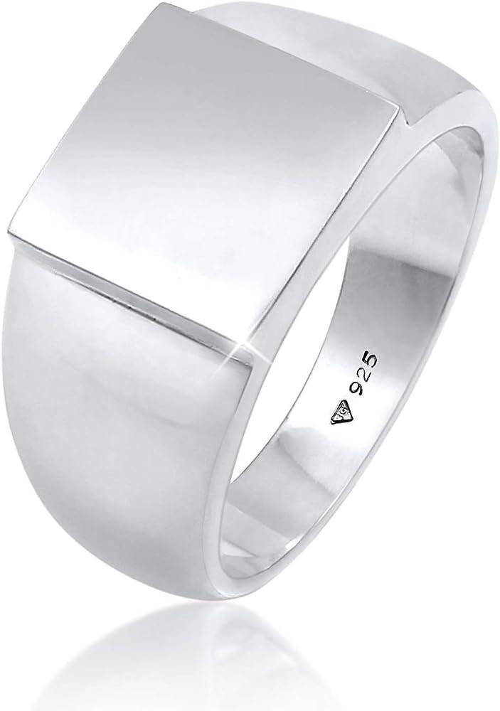 Kuzzoi ,anello da uomo con sigillo in argento sterling 925(11 gr)lucido 0607322120_54