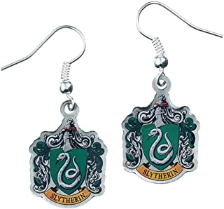 Official Harry Potter Jewelry Slytherin Crest Earrings
