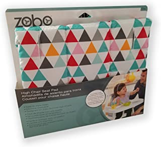 Zobo High Chair Seat Pad for Summit High Chairs (Triangles)