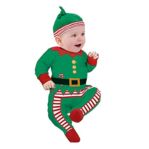 7f485a69a87d Transer Baby Clothes + Hats, 0-2 Years Old Baby Outfits Kids Christmas  Clothes