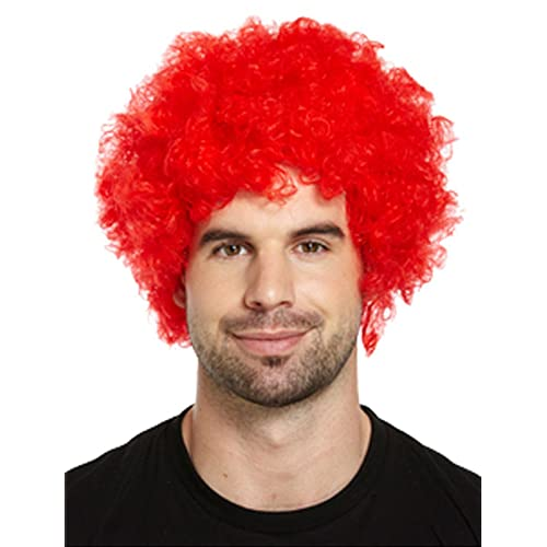 ADULT LADIES MAN CHILDREN CLOWN OUTFIT STAGE PARTY TODDLER FANCY DRESS  ACCESSORY(WIG RED 9b7fb6aedbd9