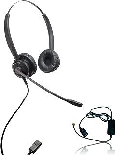 XS 825 Headset Bundle with Ergonomic Telephone Cable | For RJ9 Phones with Headset Port - VoIP, IP, Digital Phones: Cisco, Mitel, ShoreTel, Aastra, Toshiba, Nortel, Meridian, Yealink, NEC, Allworkx