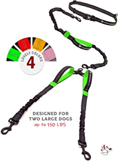 Pet Dreamland Hands Free Double Dog Leash – No Tangle Dog Leashes for Large Dogs..