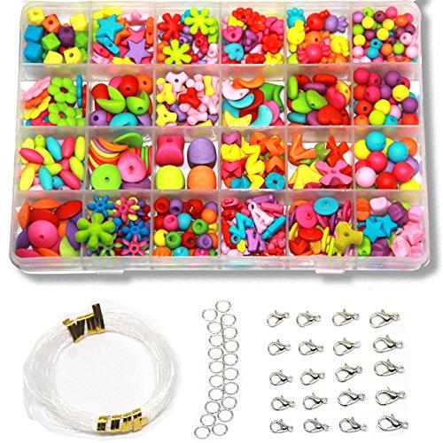 Ewparts 24 perline fai da te bigiotteria perlina perlineel perlina artistica per bambini...