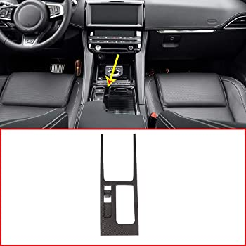 YIWANG Carbon Fiber Style ABS Car Central Console Gear Shift Frame Cover Trim for Jaguar F-Pace X761,XE 2015-2019,XF 2016-2019 Auto Accessories