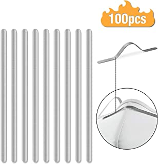 Nose Bridge Strips for Mask, Aluminum Metal Flat Strips Straps Adjustable Nose Clips Wire for DIY Face Mask Making Accessories for Sewing Crafts,100PCS