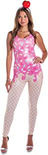 Women's Ice Cream Cone Costume - Adult Ice Cream Halloween Costume Bodysuit