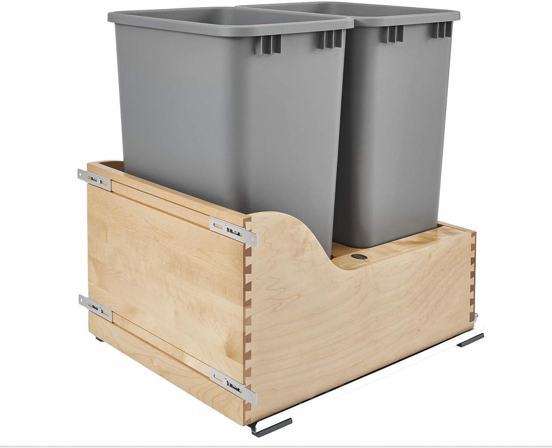 Rev-A-Shelf 4WCSC-2150DM-2 Double 50-Quart OFFer Bottom Bargain Mount Kitchen