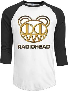ZYXcustom Men's Radiohead Bear Logo 3/4 Sleeves Baseball T-Shirts
