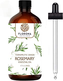 Florona Rosemary Essential Oil For Diffuser 4oz Large Bottle - Pure, Natural, Undiluted, Cruelty Free and Vegan