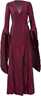 Melisandre Costume Halloween Cosplay Party Long Dress Full Set for Women