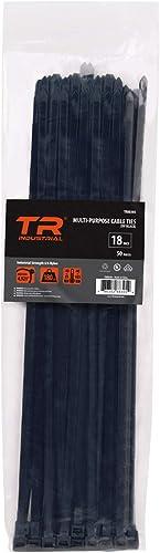 "TR Industrial TR88305 Multi-Purpose UV Cable Ties, 50-Piece,450mm (18""),Black"
