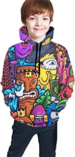 YongColer Sweatshirts Pullover for Teen Girls Boys, Hip- Pop Top Blouse