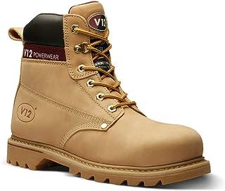 V12 Boulder, Honey Nubuck Safety Boot, 12 UK 47 EU, Gold (Honey Nubuck)
