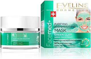 EVELINE FACEMED PURIFYING AND SMOOTHING MASK GREEN CLAY 50ML