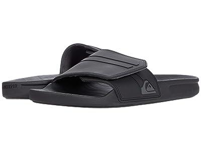 Quiksilver Rivi Slide Adjust (Black/Grey/Black) Men