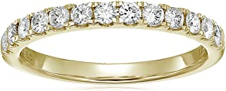 1/2 cttw Prong Set Diamond Wedding Band in 14K White or Yellow Gold