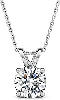 Best cz solitaire necklace Reviews