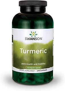 Swanson Turmeric Antioxidant, Joint Health, Cardiovascular, Liver Detox, Mood and Memory Support Supplement Curcuma Longa (Rhizome) 720 mg, 240 Capsules, 120 Servings, 1.44 Grams per Serving
