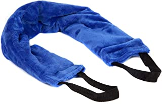Lily's Home Herbal Aromatherapy Heated Multipurpose Neck and Shoulders Fleece Wrap with Microwavable Heat Pad, Moist Heat Therapy for Tension and Pain Relief, with Handles, Blue