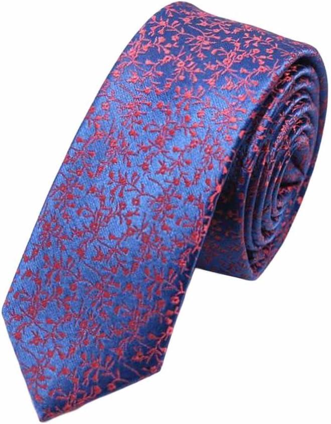 Fashion Mens Polyester Skinny Neckties Wedding/Party Necktie Fuchsia Floral 5cm