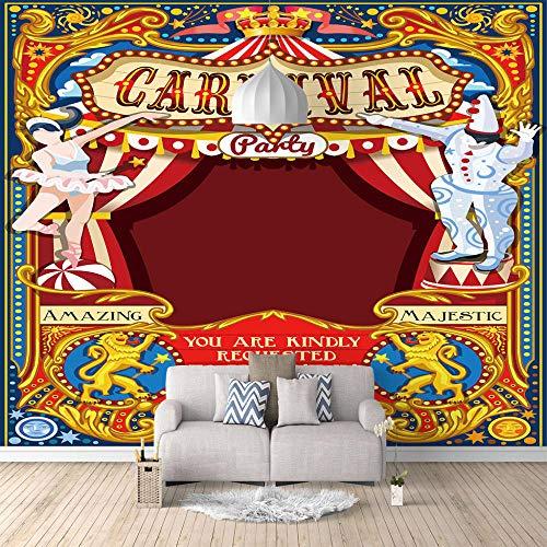 Murales Papel Pintado Circo Fotomural Para Paredes | Mural | Vinilo Decorativo Decoración Comedores, Salones, Habitaciones - 200 X 150 Cm