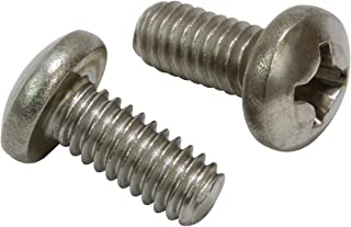 Carton 18-8 Stainless Steel 1,000 Pc 10-24 x 2 3//4 Machine Screws//Slotted//Round Head