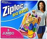 Ziploc Big Bags, XXL Double Zipper Bag - 6 Count