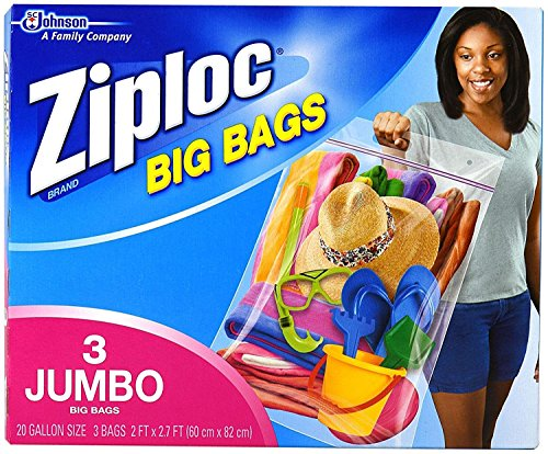 Ziploc Big Bags, XXL Double Zipper Bag - 6 Count