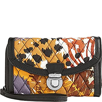 Vera Bradley Womens Ultimate Wristlet Painted Feathers Clutch