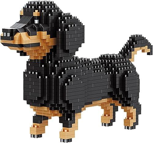 discount Larcele Mini Building Blocks Animal Set, wholesale DIY Micro 3D Building Toy Bricks,836 Pieces outlet online sale KLJM-05(Dachshund) sale