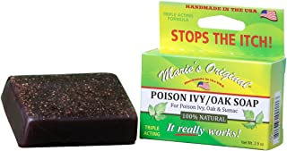 Marie's Original Poison Ivy Soap Bar – 100% All Natural Triple Acting Formula – Anti Itch Treatment for Poison Ivy, Poison Oak and Sumac – Removes Oils, Soothes and Relives Rashes - 2.9oz (2 Pack)