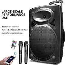 Speaker XQJJFJ 12 Inch Stage Trolley Outdoor High Power Battery Audio Advertising Song and Dance Drama Bluetooth photo