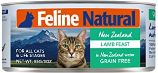 Feline Natural Canned Lamb Feast Cat Food, 85g,All Breed Sizes,Brown